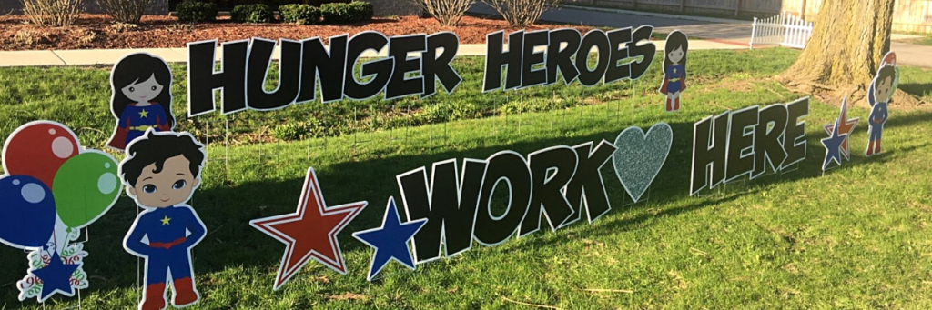 Hunger Heroes Work Here Banner