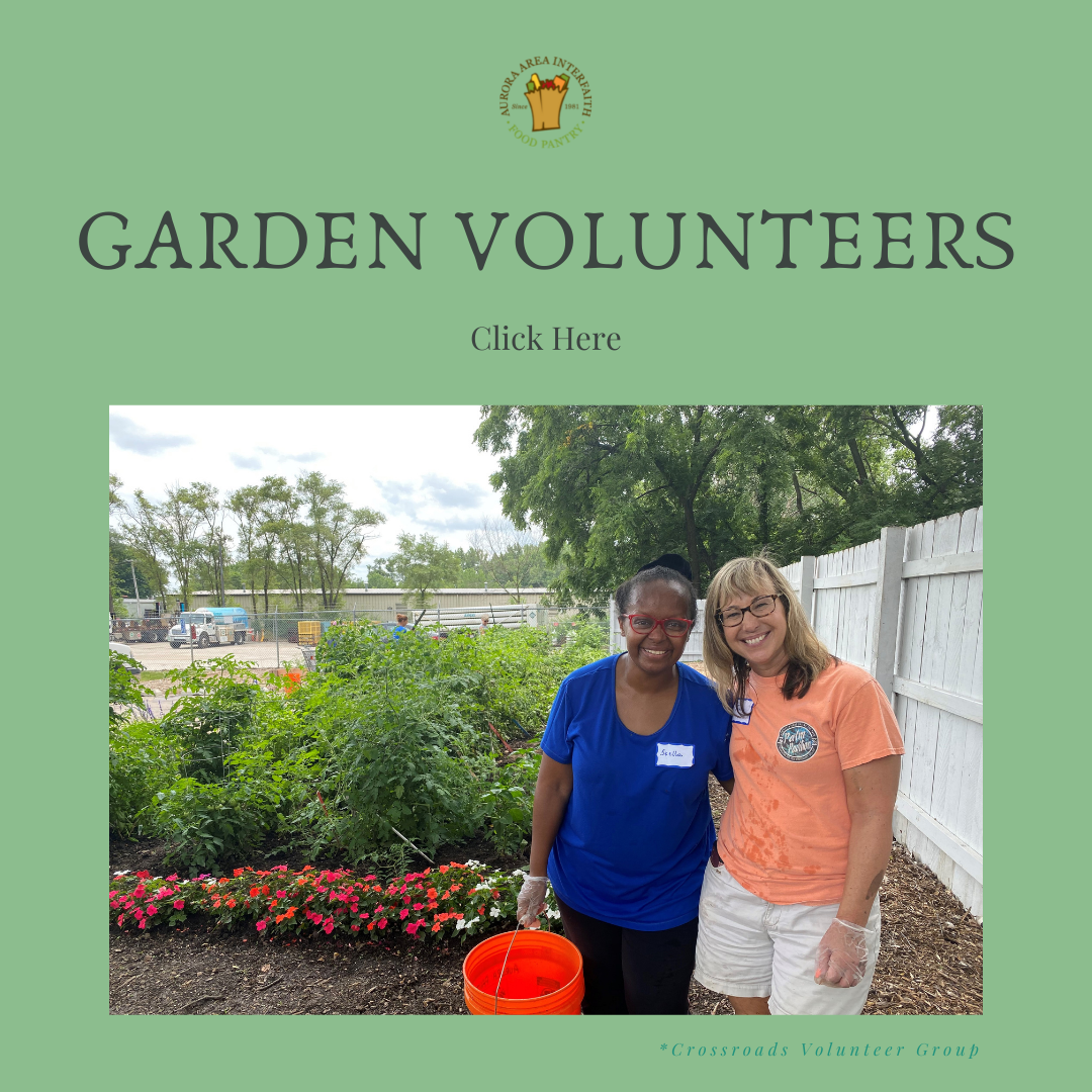 Garden Volunteers button