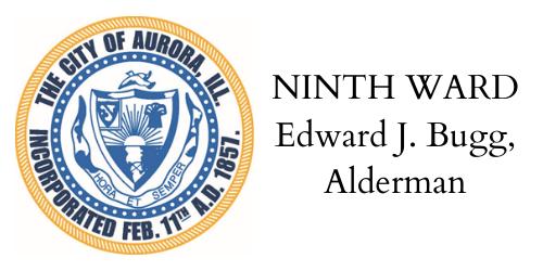NINTH WARD Edward Bugg, Alderman