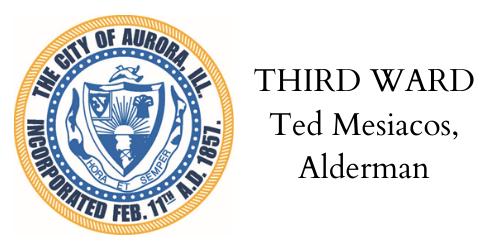 THIRD WARD Ted Mesiacos, Alderman